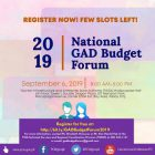 7th National GAD Budget Forum for National Government Agencies, Attached Offices, Bureaus, State Universities and Colleges and Government-Owned and Controlled Corporations