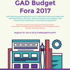 GAD Planning and Budgeting Fora for National Government Agencies, Attached Offices, Bureaus, State Universities and Colleges and Government-Owned and Controlled Corporations