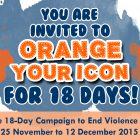 Orange Your Icon for 18 Days