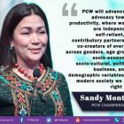 Montano takes oath as PCW Chairperson