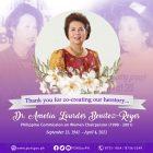 PCW Tribute to Dr. Amelou Benitez-Reyes